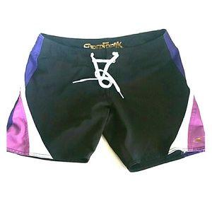 Oneill SuperFreak Black Women's Water Shorts Sze 3